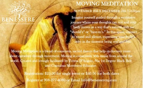 moving meditation fall flyer