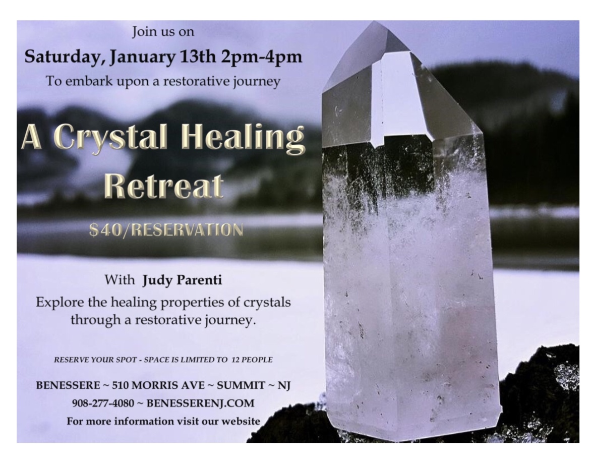 a crystal healing retreat with judy parenti