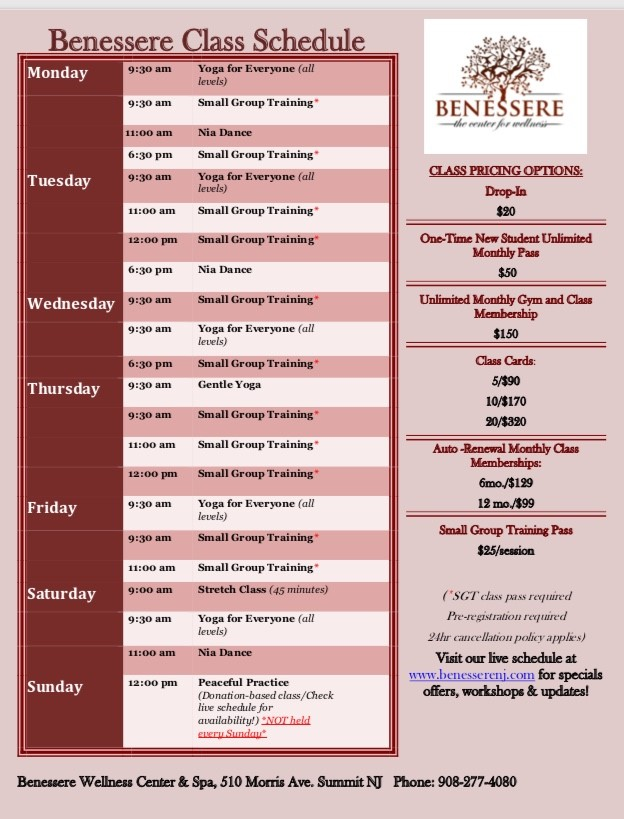 jpef new class schedule sept 2018